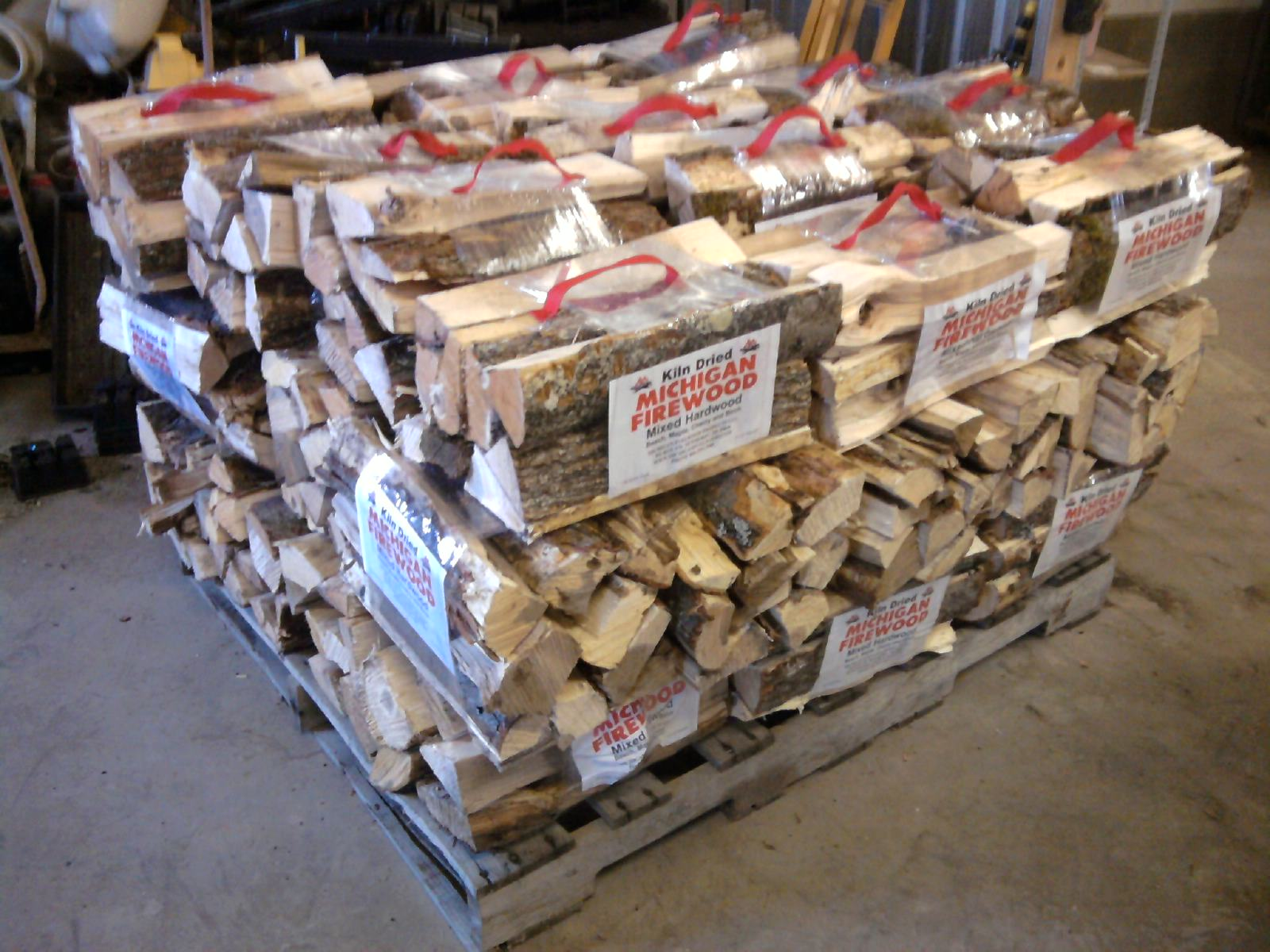 michigan fuelwood products kiln dried mixed hardwood firewood bundle pallet